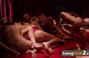 Jumpy unexperienced swingers interview..