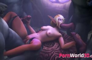 World of warcraft 3 dimensional elves..