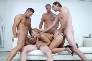 4 on 1 group sex