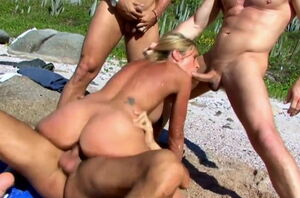 Gang-Bang on The Beach (5 Minute Porn)