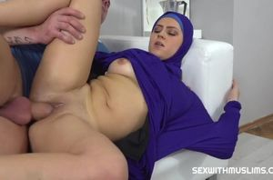 Vain muslim female romped back to..