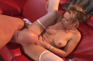 Blondie Cockslut Gags On Big african..