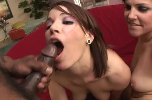 Threesome Big black cock Assfuck With..