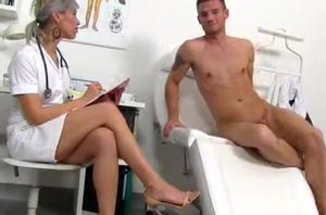 CFNM dick medical check-up with..