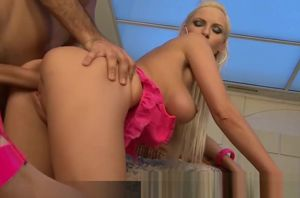 Big-titted Blond Alexis Getting Doggy..