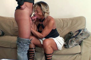 Pummeling my steamy gfs mommy on the bed