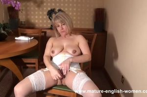 Platinum-blonde mature english..