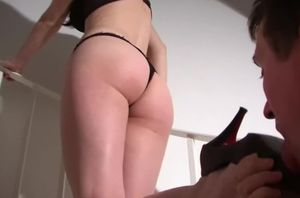 Teenage German domme with her crop and..