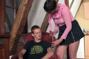Ultra-kinky  in law entices him
