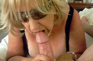 Kinky Homemade clamp with Blowjob,..
