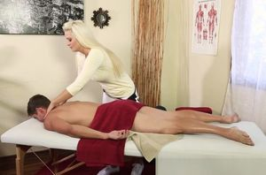 Big-boobed masseur sixtynining tricked..