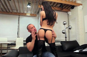 Booted latina tgirl with arse..