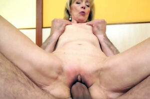 Older dame is sexually aroused to..