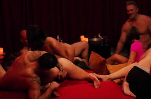Insane swinger couples love their time